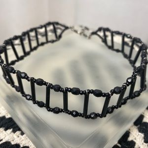 Black bead choker